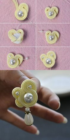 Beading Thread and Suede Cord of different types and sizes will meet your jewelry making designs demands. Wire Wrapped Earrings, Pearl Stud Earrings, Seed Bead Earrings, Beaded Earrings, Beaded Bracelets, Gold Earrings, Handmade Wire Jewelry, Diy Crafts Jewelry, Earrings Handmade