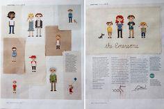 cross stitch family  (MSL link:  http://www.marthastewart.com/857131/cross-stitch-family-portrait)