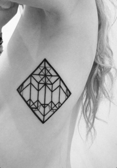 symmetrical tattoo • rhombus