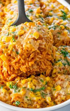 Chicken Enchilada Rice Casserole. A lot of Southwestern flavor going on with every bite. One-dish meals are my kind of cooking:)