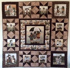 """""""Best Friends"""" by Marge Hallowell and Julie Stegna of Maine-ly Sewing (from Quilt Trends Summer 2012 issue) Girls Quilts, Baby Quilts, Memory Quilts, Panel Quilts, Quilt Blocks, Foto Quilts, Family Tree Quilt, Quilt Border, Animal Quilts"""