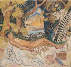 Endymion - Henrik Sørensen , 1913 Oil on canvas, 123 x 131 cm. Artist Monet, Monet Water Lilies, Queer Art, Male Figure, Claude Monet, Erotica, Norway, Oil On Canvas, Portrait