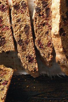 Chocolate, Raspberry, and Walnut Whole Wheat Biscotti Recipe