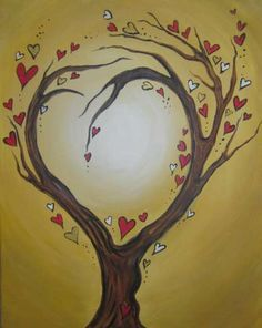 Image result for paint night tree