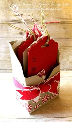 Stampin'Up! Hang your Stocking bundle, christmas gift tags, diy