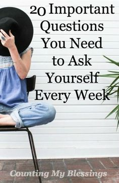 Grab your planner or journal and ask these questions every week. I promise they will help you focus, plan intentionally, and bless your life...