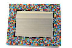 Multicolored Mosaic Mirror by GreenStreetMosaics on Etsy