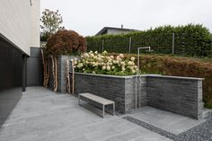 Terrassenanlage mit Pool am Hang - Stone Group AG Sidewalk, Patio, Stone, Outdoor Decor, Plants, Home Decor, Natural Stones, Porches, Ground Covering