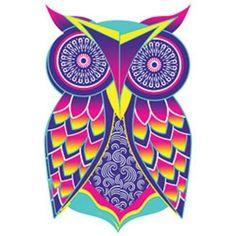 Owl Art HEAT PRESS TRANSFER for T Shirt Sweatshirt Tote Bag Quilt Fabric 218c #AB