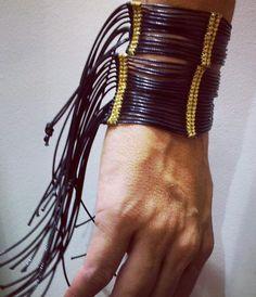 leather bracelet....is that rock enough????????????????????????