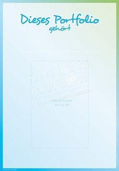 Dieses Porfolio gehört... (Blau-Grün) - Portfoliovorlage