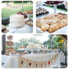 Wedding Dessert table, would love to have the hand pies