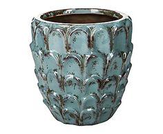 Macetero de cerámica - azul