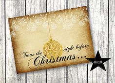 Hey, I found this really awesome Etsy listing at https://www.etsy.com/listing/208168811/gold-christmas-twas-the-night-before