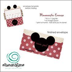 Mousekeeping Tip Envelopes from Shenanigans Design