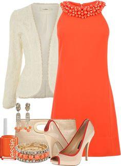 Une chic et magnifique robe orange ! #myfashionlove #tenue #robe #orange #BelledeJour www.myfashionlove.com
