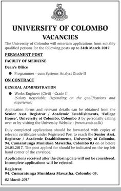 Sri Lankan Government Job Vacancies At The Associated Newspapers