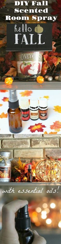 Super easy to make your own nontoxic room spay! This one smells like fall