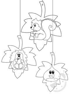 Foglie con disegni da appendere a scuola Fall Arts And Crafts, Autumn Crafts, Autumn Art, Summer Crafts, Easy Coloring Pages, Disney Coloring Pages, Fall Preschool, Preschool Crafts, Drawing For Kids