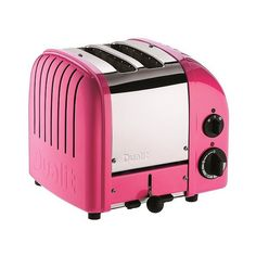 Dualit Chilli Pink New Generation Classic Toaster -  Slice (159.870 CLP) ❤ liked on Polyvore featuring home, kitchen & dining, small appliances, chilli pink, slice toaster, pink toaster, dualit and dualit toaster