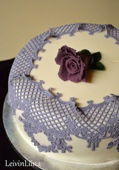 Purple Lace Cake by LeivinLiina