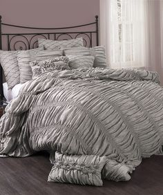 Loving this Gray Madelynn Comforter Set on #zulily! #zulilyfinds