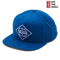 Vans The Badge Snapback Hat is an 80% acrylic, 20% wool 5-panel snapback hat with a merrow-edged patch and direct embroidery or screen print graphics.