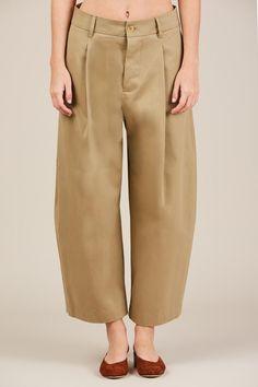 Bonnar Oversized Trouser - Khaki - Studio Nicholson - 1