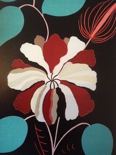 """A DIFFERENT KIND OF LILY"" painting by Blue Angel (100cmx80cms)"