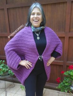 Poncho de un cuadrado tejido en dos agujas para damas Knitting, Sweaters, Origami, Youtube, Fashion, How To Knit, Ponchos, Crocheting, Moda