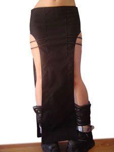 Atomik Black Tubing skirt #cyber #goth #clubwear
