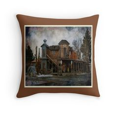 'Western Style ' Throw Pillow by umumar Framed Prints, Canvas Prints, Art Prints, Western Style, Westerns, Duvet Covers, Throw Pillows, Poster, Painting