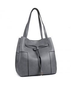 Tote HandbagsWomens PU Leather Handbags Tote Bag with Drawstring Closure - Darkgray - CT182YWAYAU  #Bags #Handbags #Totebags #gifts #Style
