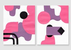 Sexy Manners Abstract Painting Series by wilmermurillo on Etsy