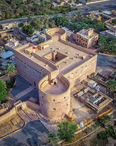 Al Hazm Castle, Rustaq, Oman - Unusual Buildings, Interesting Buildings, Amazing Buildings, Beautiful Castles, Beautiful Places, Great Places, Places To See, Places Around The World, Around The Worlds