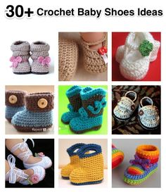 Quick Crochet Baby Booties with Bow