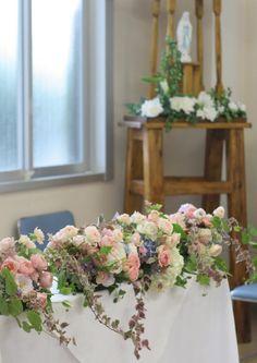 教会の装花 しゃぼんだま2 カトリック豊島教会様へ : 一会 ウエディングの花