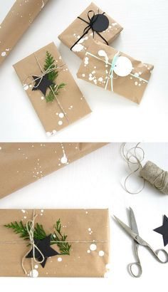 AD: simple, elegant and minimal chritsmas gift ideas. Love wrapping paper pattern #christmasgifts #wrapping #christmas