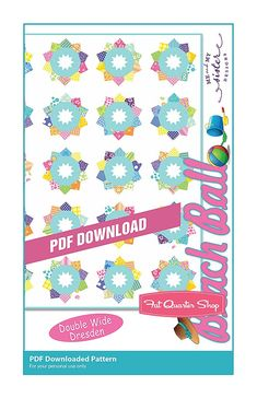 Beach Ball Downloadable PDF Quilt Pattern Me and My Sister Designs
