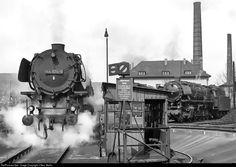 RailPictures.Net Photo: 044 674 Deutsche Bundesbahn Steam 2-10-0 at Ehrang, Germany by J Neu, Berlin