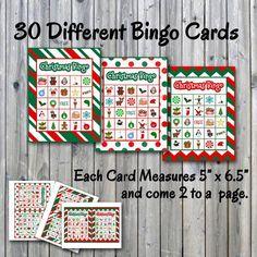 Christmas Bingo Printable PDF 30 different Cards HALF PAGE | Etsy Christmas Bingo Printable, Christmas Bingo Game, Christmas Items, Christmas Signs, Christmas Fun, Christmas Photo Booth Props, Bingo Sheets, The Calling, Memory Games