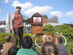 Stories on Wheels: an original street theatre storytelling act that #Rides around.
