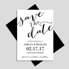 Save The Date Printable Save The Date Weddings Wedding