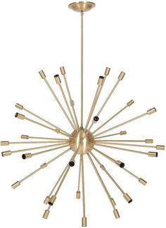 brass sputnik chandelier.