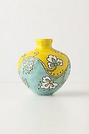 Delicate Division Vase, making one right now. Pottery Painting Designs, Pottery Designs, Paint Designs, Blue Pottery, Ceramic Pottery, Pottery Art, Painted Pottery, Bottle Painting, Bottle Art
