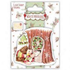 Helz Cuppleditch Winter Woodland Clear Stamps Hedgehog  for crafts
