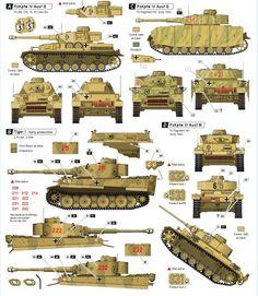 Panzer IV marcas y colores