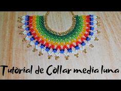 Gold Jewelry Simple, Simple Necklace, Beaded Earrings, Crochet Earrings, Media Luna, Laddu Gopal, Bead Art, Youtube, Beads