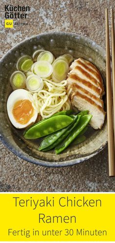 Teriyaki Chicken, Ramen, Grill Pan, Grilling, Low Carb, Fancy, Dinner, Cooking, Kitchen