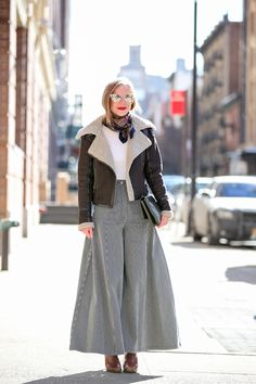 Below-Freezing NYC Street Style That's Still Fire #refinery29  http://www.refinery29.com/2015/02/82279/new-york-fashion-week-2015-street-style-pictures#slide-111  Now, those are some pants.